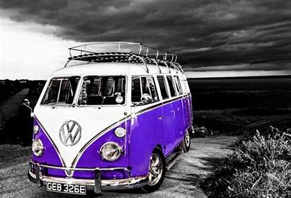 purple camper van